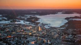 Järvenpään keskusta talvella