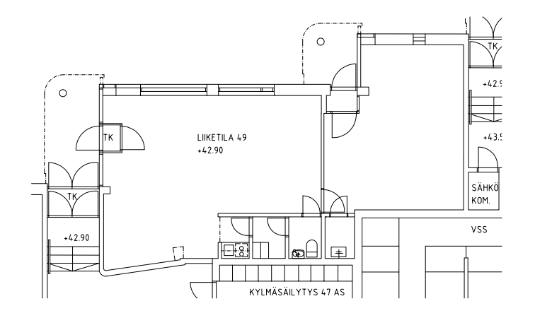 Helsingintie 13 kohteen pohjapiirros